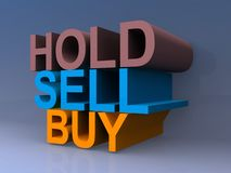Tenez, vendez et achetez Photographie stock