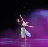 Tenez-vous dans ma magie de bras-Le de danse du monde de l'Autriche de danse-le d'amour-flamant Photos libres de droits