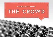 Tenez-vous de l'individualité d'affaires de foule Photos libres de droits