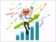 Tenga éxito al hombre de negocios stock de ilustración