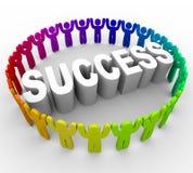 Tenga éxito - la palabra circundante de la gente ilustración del vector
