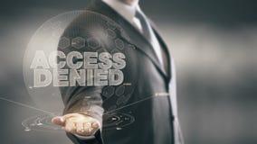 Tenga acceso al hombre de negocios negado Holding las nuevas tecnologías disponibles almacen de video