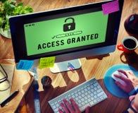 Tenga acceso concedido siempre posibles disponibles desbloquean concepto foto de archivo
