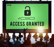 Tenga acceso concedido siempre posibles disponibles desbloquean concepto imagen de archivo libre de regalías