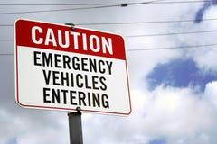 Tenga cuidado para las ambulancias Fotos de archivo libres de regalías