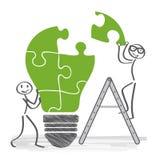 Tenga ideas, cooperación Foto de archivo