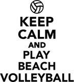 Tenga il beach volley del gioco e di calma Fotografie Stock Libere da Diritti