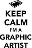 Tenga il ` m. di calma I un artista grafico illustrazione vettoriale