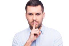 Tenga il mio segreto! Fotografie Stock Libere da Diritti