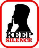 Tenga il segno di silenzio Immagini Stock