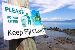 Tenga il segno pulito di Figi Fotografia Stock