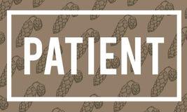 Tenga il soggiorno calmo fresco per essere paziente Serene Peaceful illustrazione vettoriale