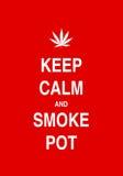 Tenga la calma e fumi una canna royalty illustrazione gratis