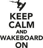 Tenga la calma e il wakeboard sopra illustrazione di stock