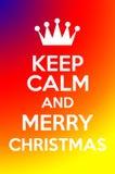 Tenga la calma ed il Buon Natale Immagine Stock