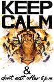 Tenga la calma Illustrazione del watercolorr della tigre royalty illustrazione gratis
