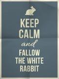 Tenga la citazione calma del coniglio Immagine Stock Libera da Diritti