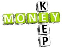 Tenga le parole incrociate dei soldi Immagine Stock