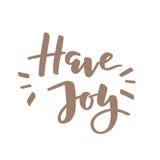 Tenga letras de la alegría Fotos de archivo