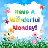 Tenga un lunes maravilloso - mensaje de la motivación - el ejemplo 3d ilustración del vector