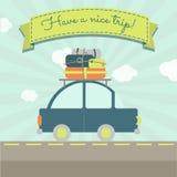 Tenga un viaje agradable del coche ilustración del vector