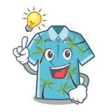Tenga una suspensión hawaiana de las camisas de la historieta de la idea detrás de la puerta ilustración del vector