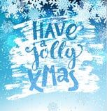 Tenga una tarjeta geeting alegre de Navidad fotografía de archivo