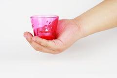 Tenga una tazza della candela Fotografia Stock