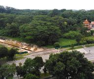 Tengah forest in Singapore. The last sizeable secondary rainforest in the western region, area, live, firing, saf, asia, woods, woodland, nature, aerial, view stock image
