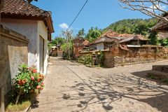 Tenganan Village in Bali. Tenganan is a village in the regency of Karangasem in Bali, Indonesia. Before the 1970s was known by anthropologists to be one of the Royalty Free Stock Images