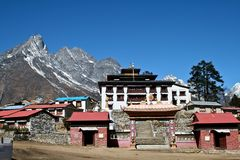 Tengboche - Buddhist Tibetan Monastery in Khumbu Stock Photos