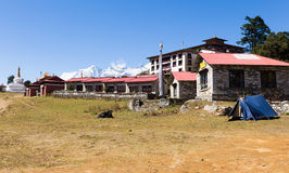 Tengboche monasteru budynek Zdjęcia Stock