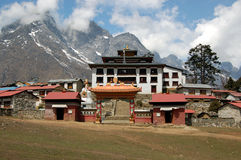 Tengboche monastery. Is the largest Buddhist monastery in the Khumbu region. Monastery is plased on Mt. Everest base camp trek Stock Photography