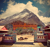 Tengboche monastery in Himalaya mountains, Nepal Royalty Free Stock Image
