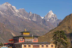 Tengboche monastery and mountain Stock Photography