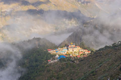 Tengboche monastery and village Stock Photos
