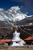 Tengboche Stupa. The Stupa at Tengboche monastery with the Everest mountains in the background Royalty Free Stock Images