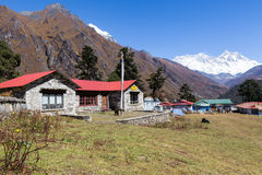 Tengboche village monastery buildings. Royalty Free Stock Photography