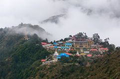Tengboche village and monastery Stock Images