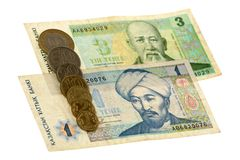 Tenge bill of Kazakhstan Stock Photo