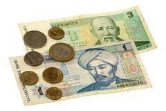 Tenge bill of Kazakhstan Royalty Free Stock Image