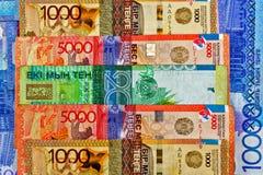 Tenge de Kazakhstan d'argent Photographie stock libre de droits