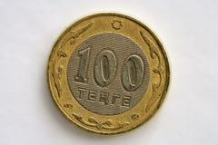 Tenge de la pièce de monnaie cent. Photographie stock libre de droits