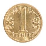 Tenge kazakh de pièce de monnaie Photographie stock