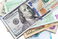 Tenge. Money of Kazakhstan. Dollars. Euro. Stock Photography