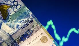 Tenge rise or fall.Analysis of the currency pair tenge to dollar.Forex.Trading.Crisis.Depreciation.Play on the stock exchange, stock images