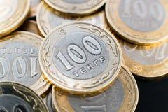 Tenge soldi kazako Fotografie Stock Libere da Diritti