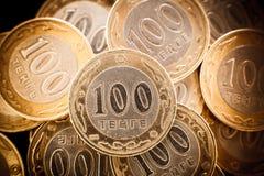 Tenge soldi kazako fotografia stock libera da diritti