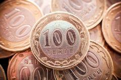 Tenge soldi kazako immagini stock