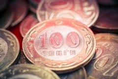 Tenge soldi kazako immagine stock